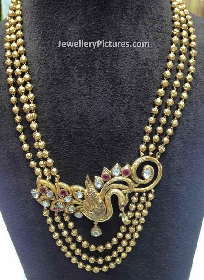 Gold Long Chain Designs Catalogue - Jewellery Designs