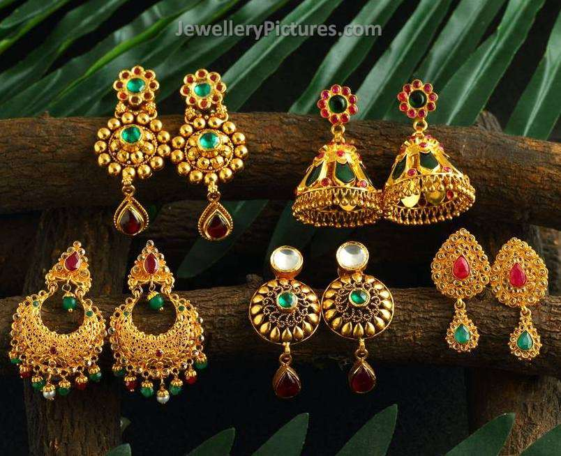 Josalukkas Gold Earrings Designs - Jewellery Designs