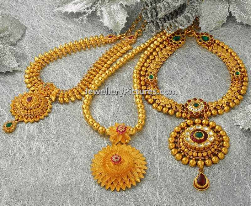 designs necklace model gold south jewels yellow india latest premraj sets