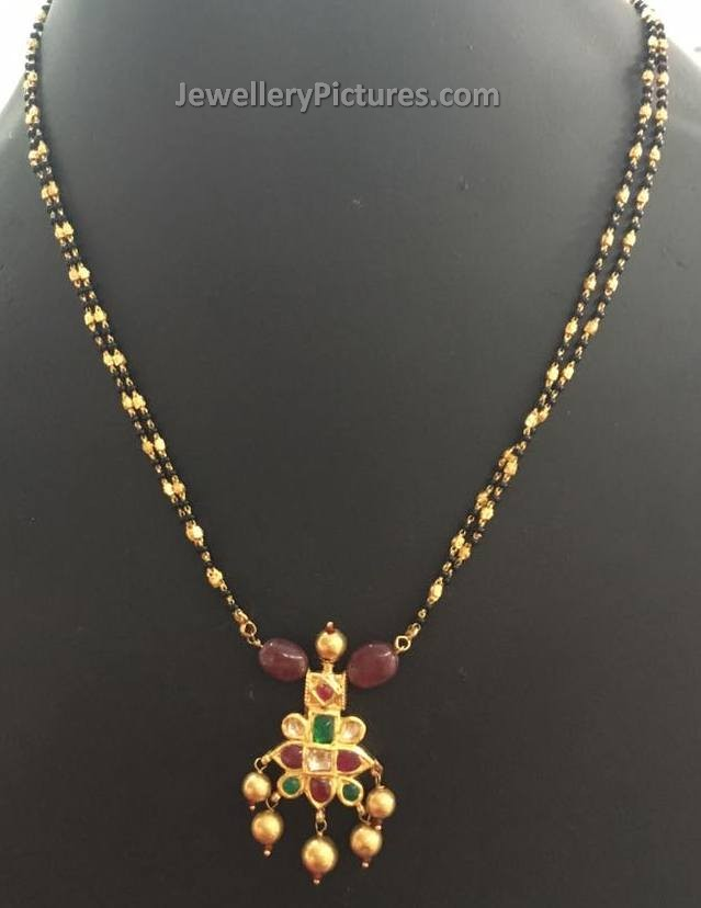 22k Gold Kundan Jewelry 22k Gold Antique Necklace Drop