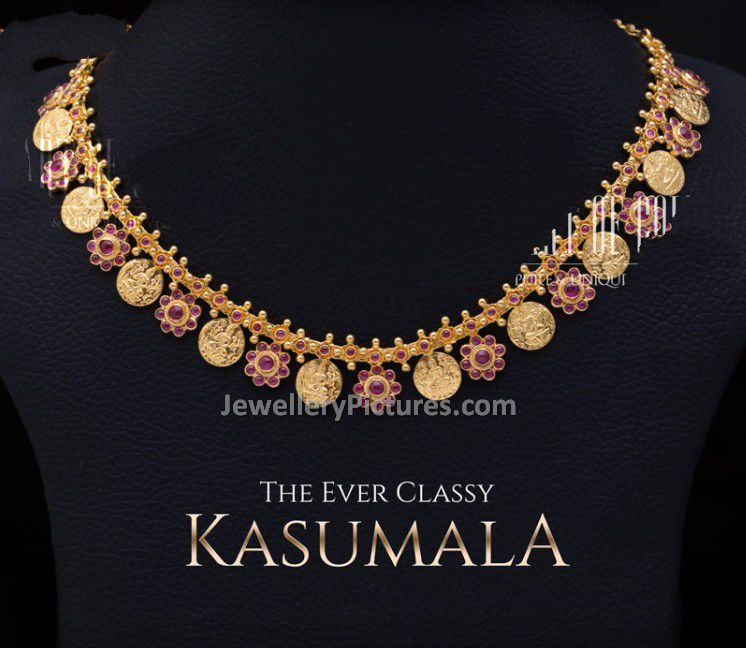 Kasu Mala Designs with Weight and Price - Jewellery Designs