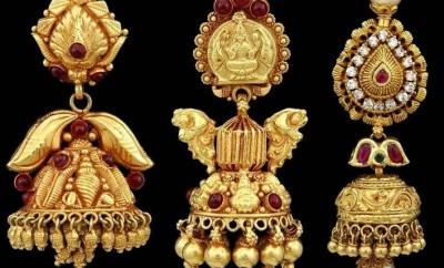 latest gold jhumkas designs antique buttalu