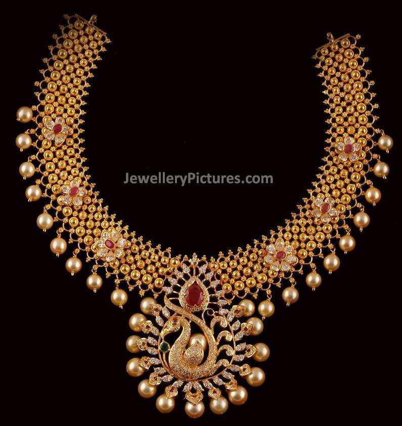 Latest Gold Necklace Design - Jewellery Designs