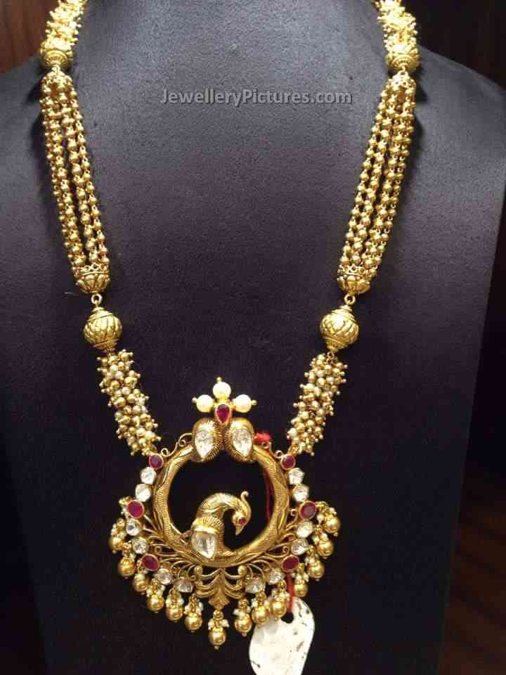 Gold Haram Designs with Weight and Price - Jewellery Designs