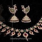 Mango Design Jewellery Necklace and Jhumka
