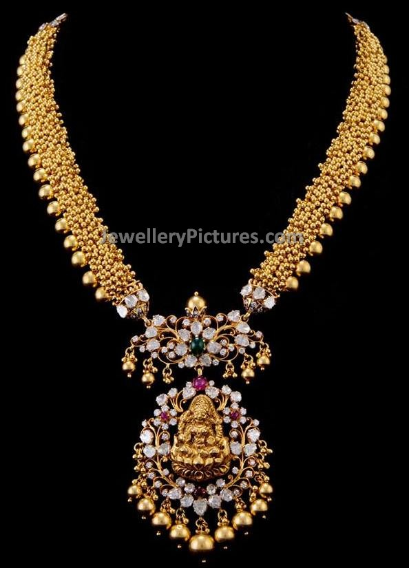 New Design Necklace in Gold - Jewellery Designs