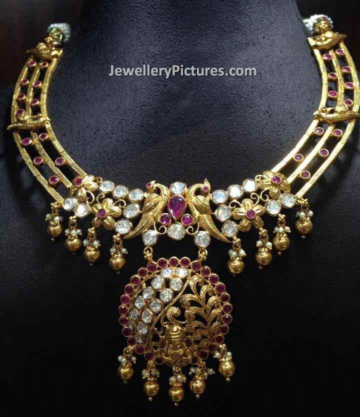 fb gold necklace img flower jewellery designs model