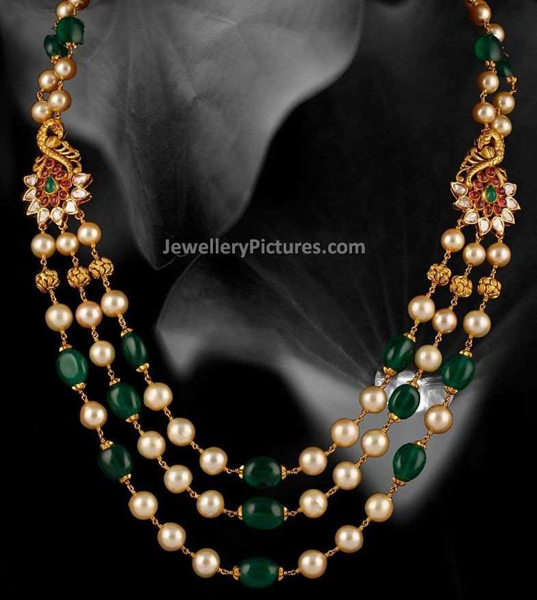Pearl Long Chain in Gold - Jewellery Designs