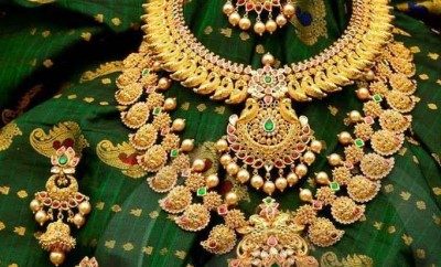 south indian gold jewellery designs catalogue by neekanth jewelelrs