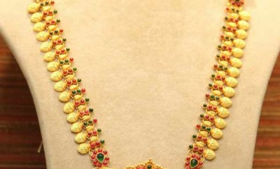 south indian jewellery designs catalogue of lakshmi haram