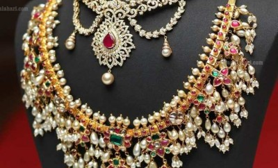 south indian jewellery designs pearl necklace