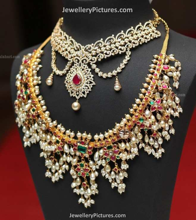 South indian jewellery designs pearls