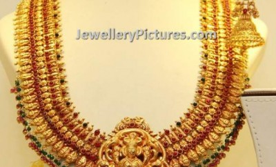 south indian traditional gold jewellery designs lakshmi haram