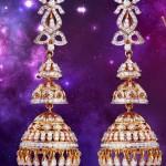 Three Step Diamond Jhumkas