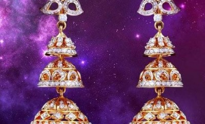 step diamond jhumkas
