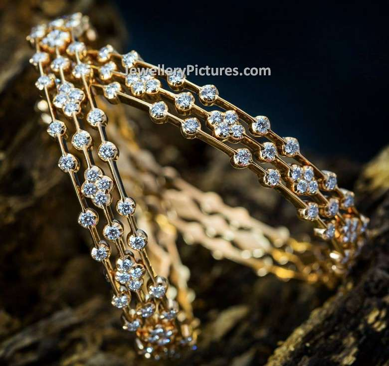 Diamond Bangle Models Latest Collection - Jewellery Designs