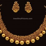Gold Necklace Designs with Beads