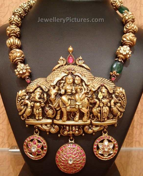 Indian Gold Jewellery Necklace Designs With Price: Antique Gold Jewellery Designs With Price