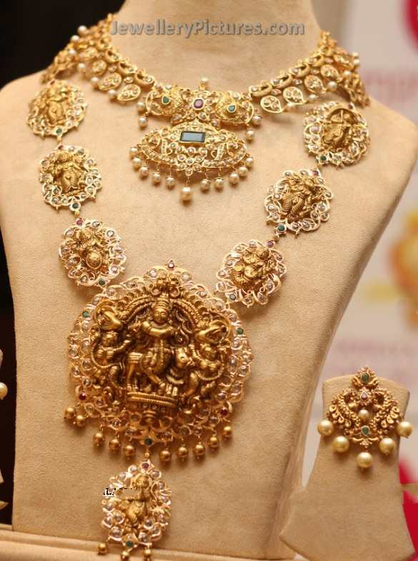 Antique Gold Long Chain Designs Jewellery Designs