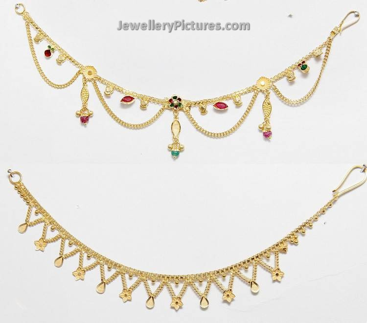 Gold necklace patterns designs