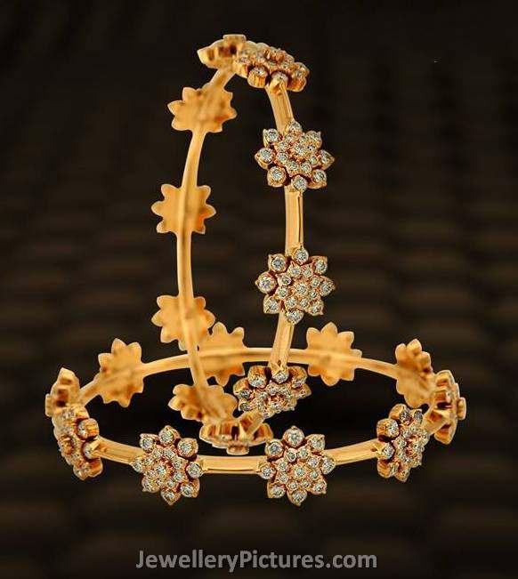 diamond bangles indian designs jewellery designs
