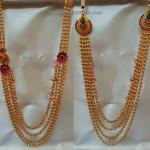 Gold Chandraharam Designs