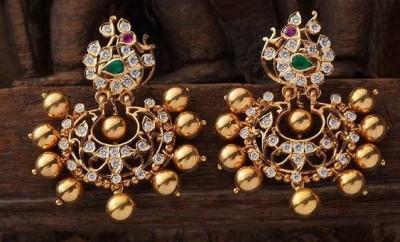 earrings gold tops design
