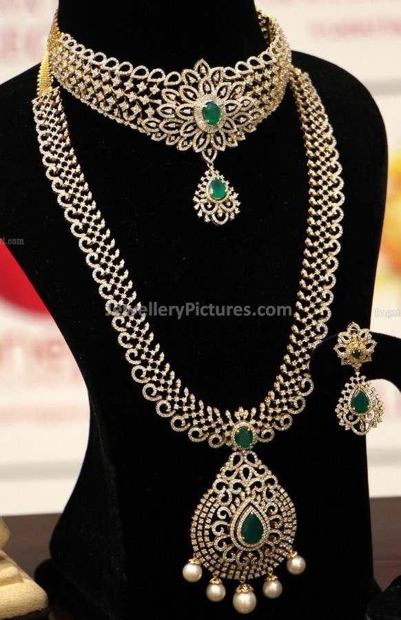 Diamond Long Chain Latest Indian Jewelry - Jewellery Designs