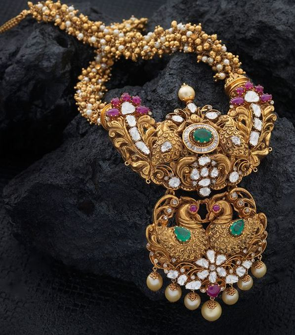 New Haram Designs - Jewellery Designs  Davanam