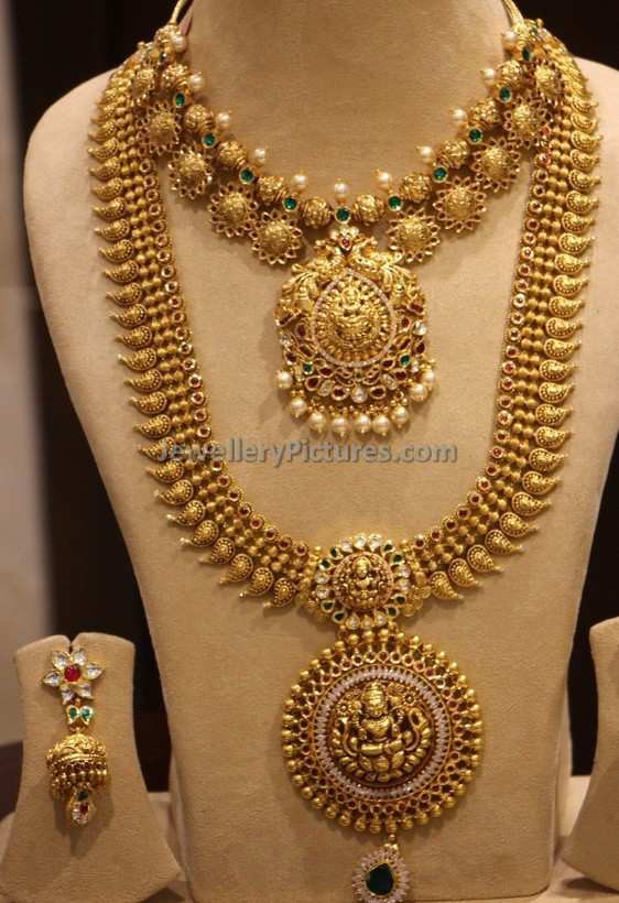 South Indian Bridal Jewellery Design Mango Haram Necklace