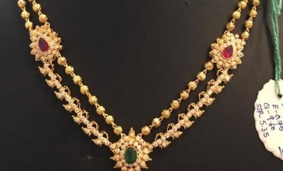 gold necklace south indian traditional jewellery designs