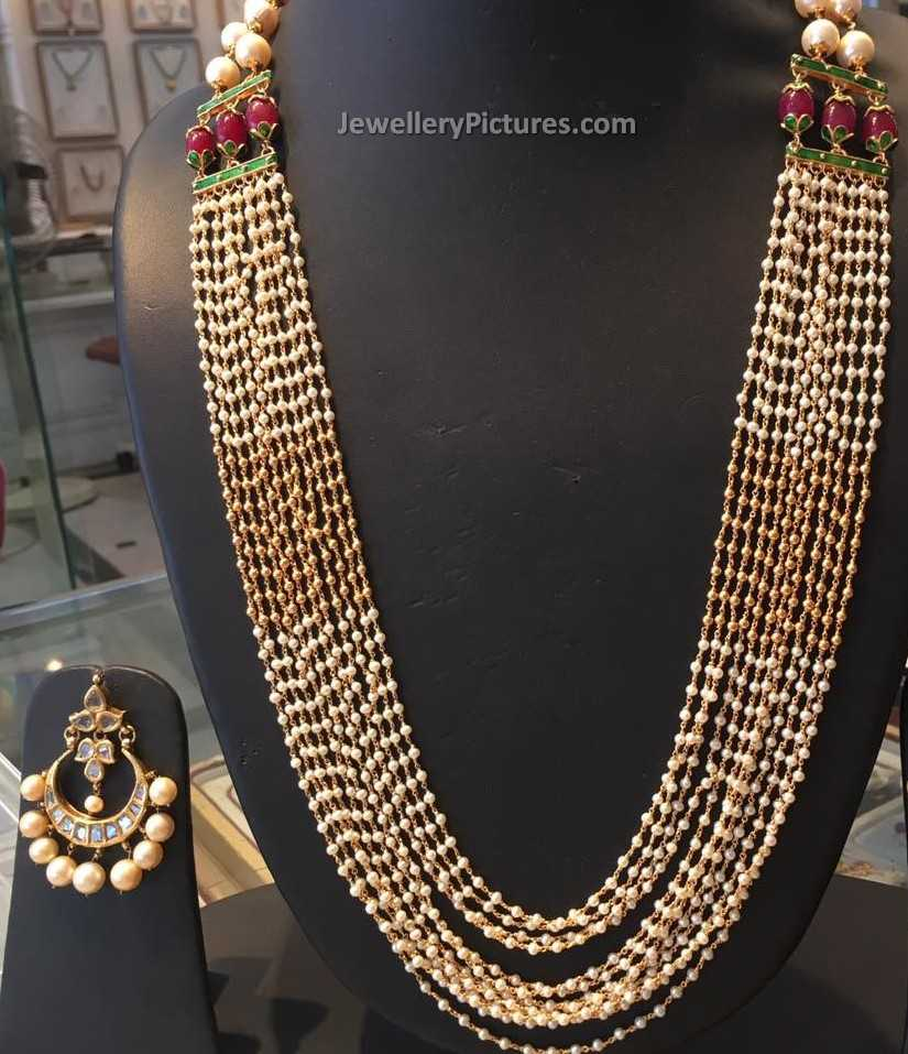 South Indian Wedding Jewellery Pearls Mala Jewellery Designs