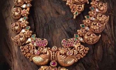 Peacock Mango Aaram Designs In Gold Jewellery Designs