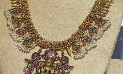 antique haram designs with pearls