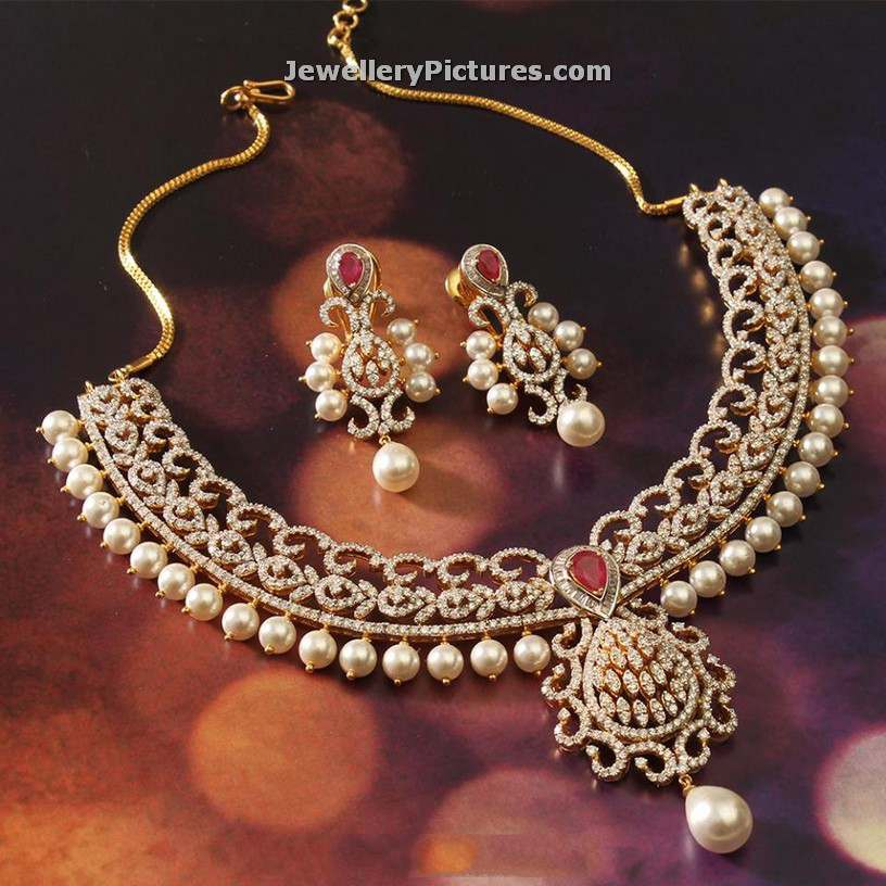 Latest 13 Diamond Necklace jewellery Designs
