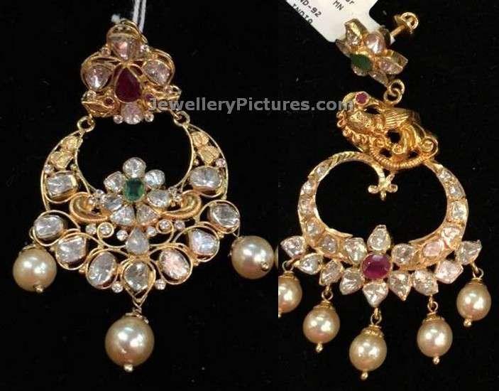 uncut diamonds chandbali designs