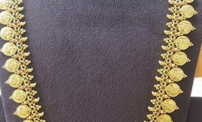 plain gold kasu mala designs