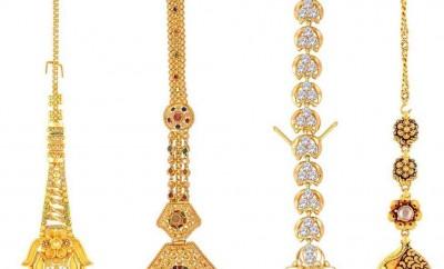 four gold maang tikka designs