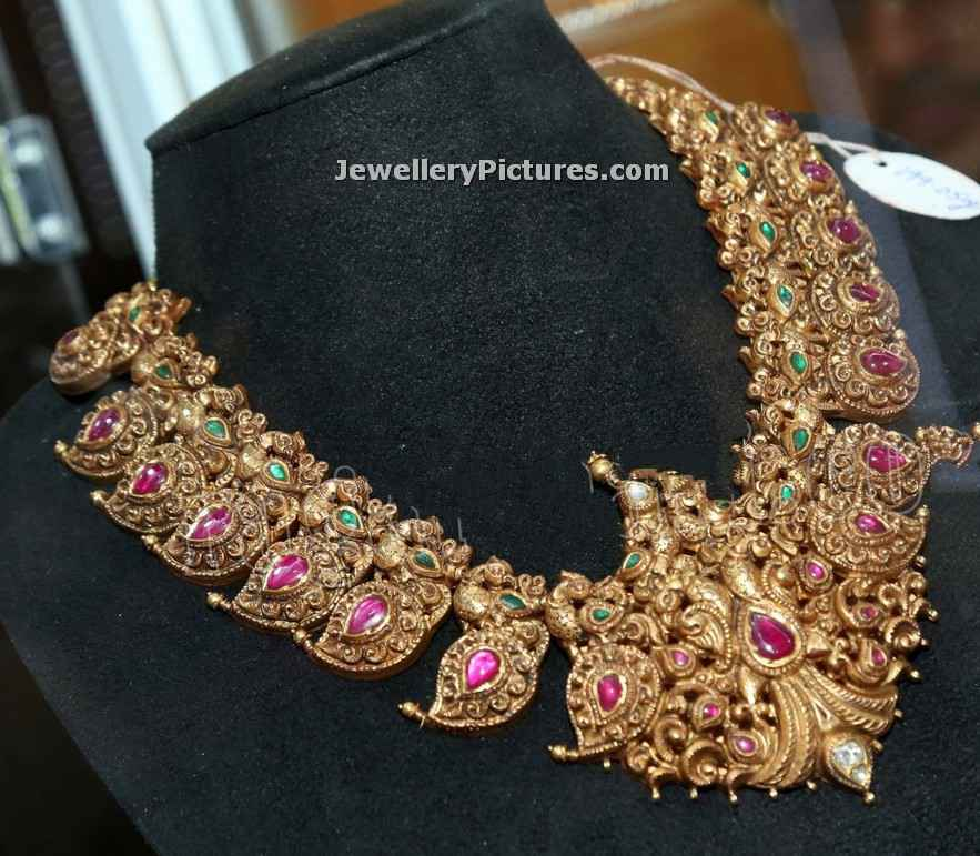 Mamidi Pindela Necklace In Gold - Jewellery Designs