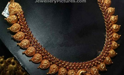 traditional gold mango mala designs