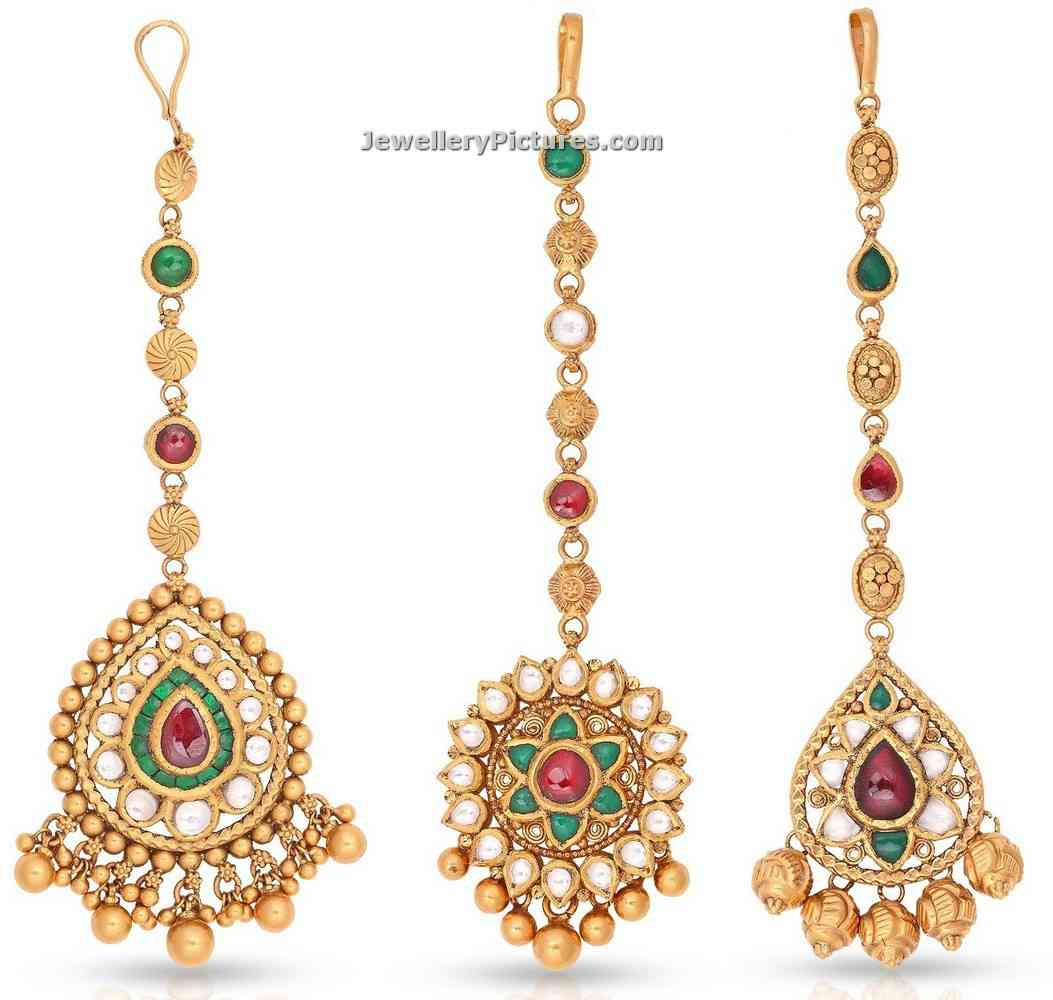 Gold Tikka Designs in Malabar Gold - Jewellery Designs
