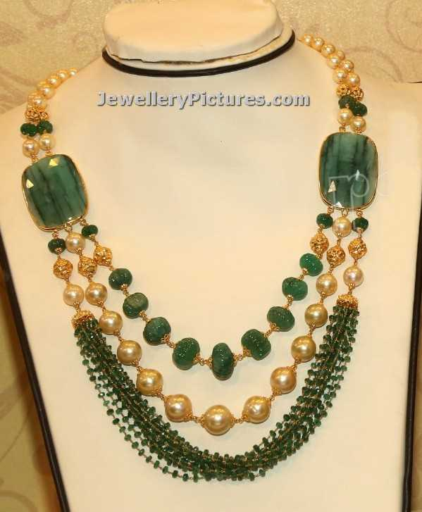 Indian Pearl Jewellery Designs Catalogue Jewellery Designs