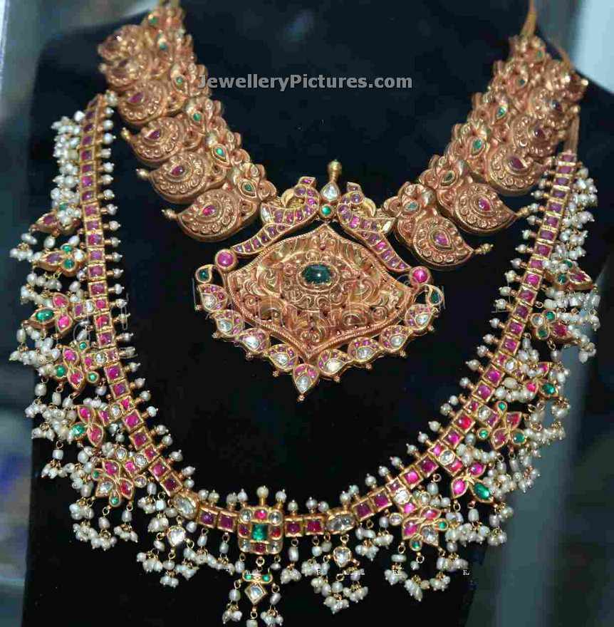 indian pearls necklace designs jewellery designs