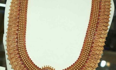 kasulaperu jewellery collection two layer haram