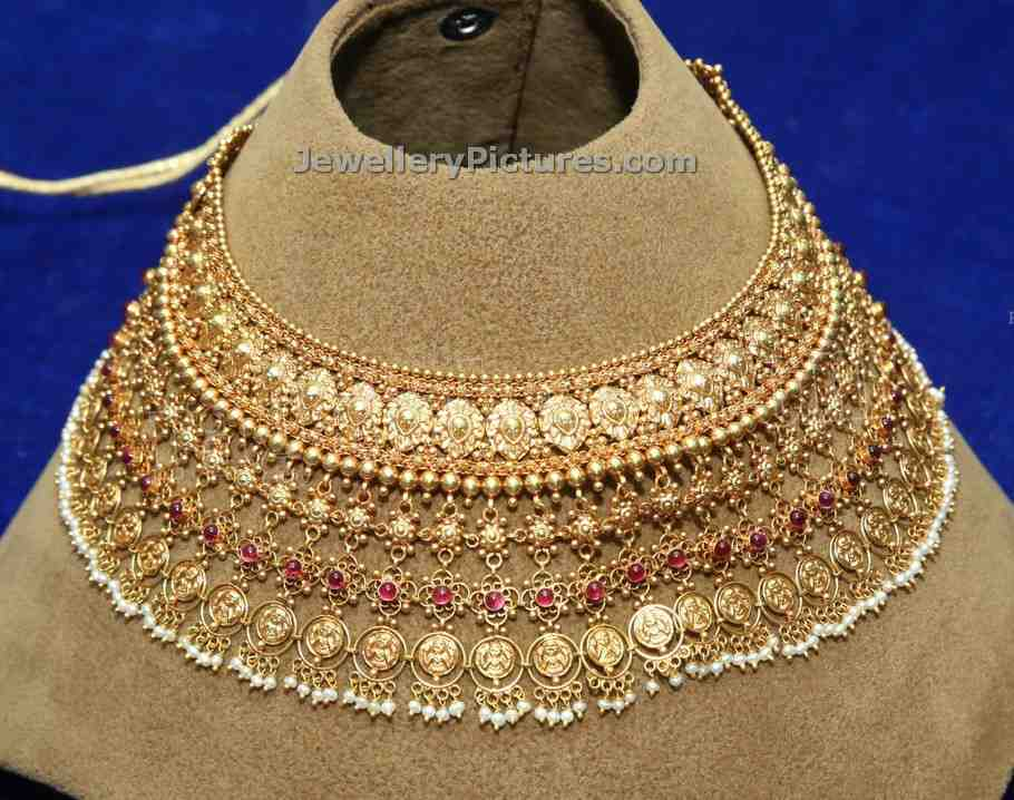 designs gold jewellery choker lightweight