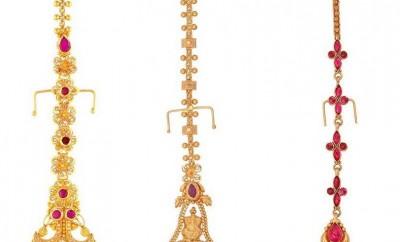 maang tikka designs in gold