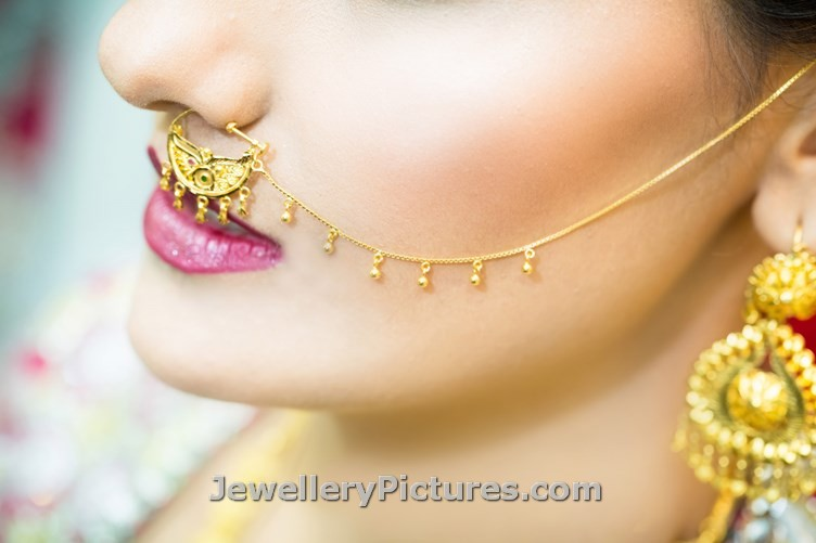 Nathni Designs Bridal Nose Ring Jewellery Designs