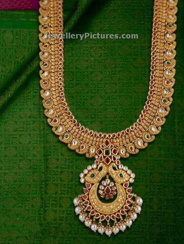 Joyalukkas Diamond Necklace Models Jewellery Designs  : new model haram designs from vacances-mediterranee.info size 588 x 779 jpeg 70kB