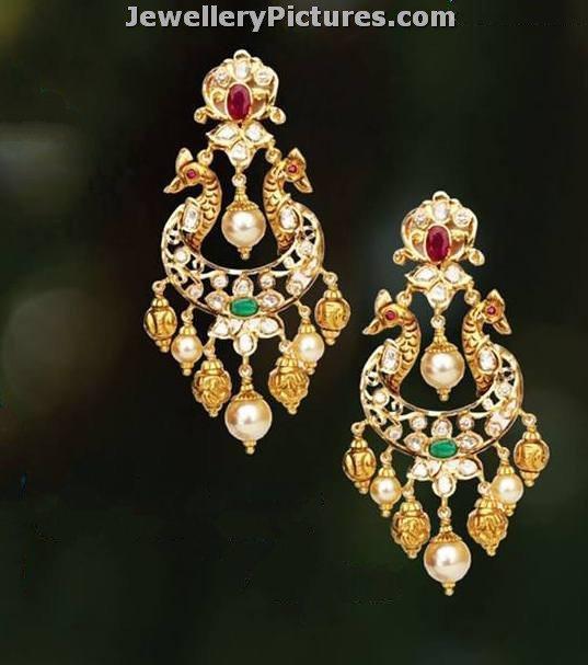 Uncut Diamond Earrings Latest Indian Jewelry Jewellery Designs
