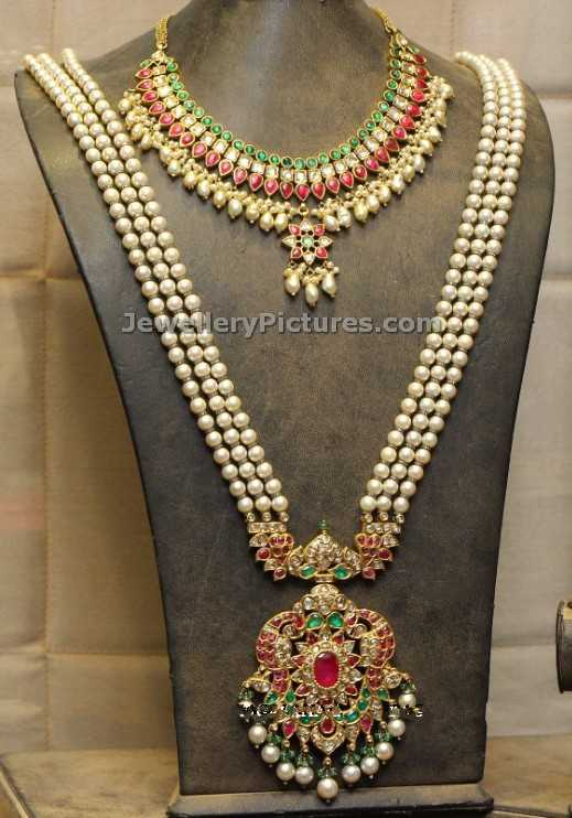 Pearls Jewellery Designs in Gold Jewellery Designs